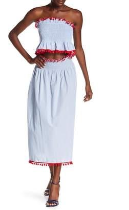 AMERICA & BEYOND Forget Me Not Pompom Skirt