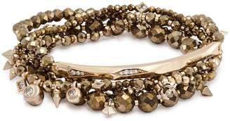 Kendra Scott Supak Beaded Bracelet Set in Brown Pyrite