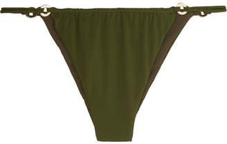 FELLA Xaiver Embellished Bikini Briefs - Army green