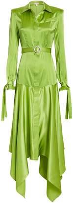 MATÉRIEL Belted Silk Shirt Dress
