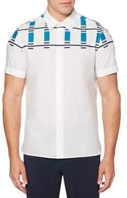 Perry Ellis Engineered Graphic Cotton Sport Shirt