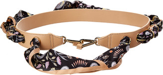 Chloé Silk Scarf & Leather Bag Strap