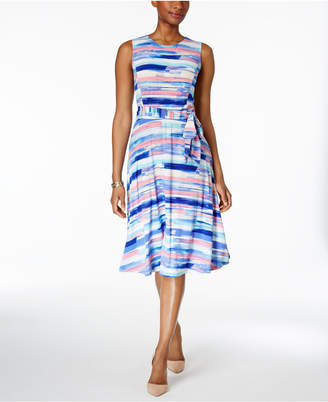 Charter Club Printed Fit & Flare Dress, Only at Macy's $89.50 thestylecure.com