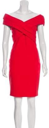 Haney Off-The-Shoulder Knee-Length Dress w/ Tags