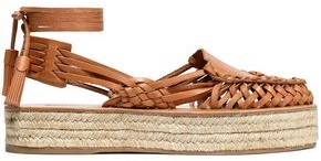 Zimmermann Woven Leather Platform Espadrilles
