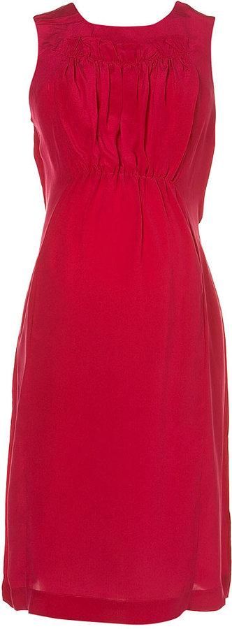 Maternity Silk Ruffle Dress