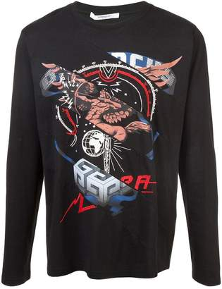 Givenchy patchwork longsleeved T-shirt