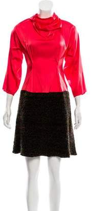 Hache Long Sleeve Dress