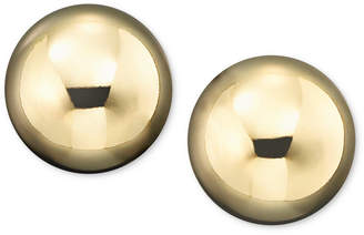 Macy's Gold Ball Stud Earrings (4mm) in 14k Yellow, White or Rose Gold