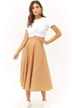 Forever 21 High-Waisted Midi Skirt