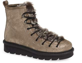 Seychelles Resource Lace-Up Boot with Faux Fur Trim