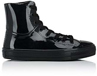 Barneys New York Women's Cap-Toe High-Top Rain Sneakers $90 thestylecure.com