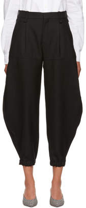 Chloé Black Wool Gabardine Trousers