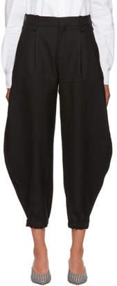 Chloé Black Wool Gabardine Trousers