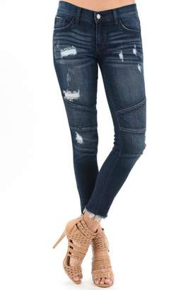 Kancan Distressed Moto Denim