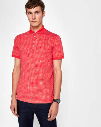 Ted Baker BOXER Geo print polo shirt