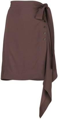 Rick Owens asymmetric buttoned skirt
