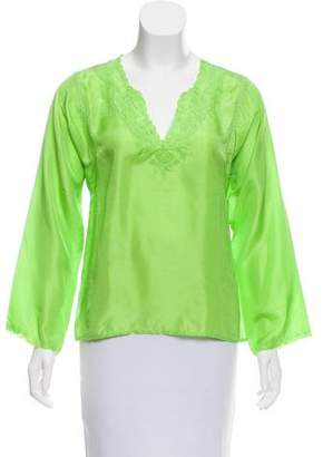 Calypso Silk Embroidered Top