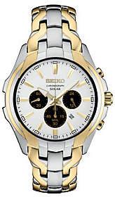 Seiko Men's Stainless Two-Tone Solar Chronograph Watch