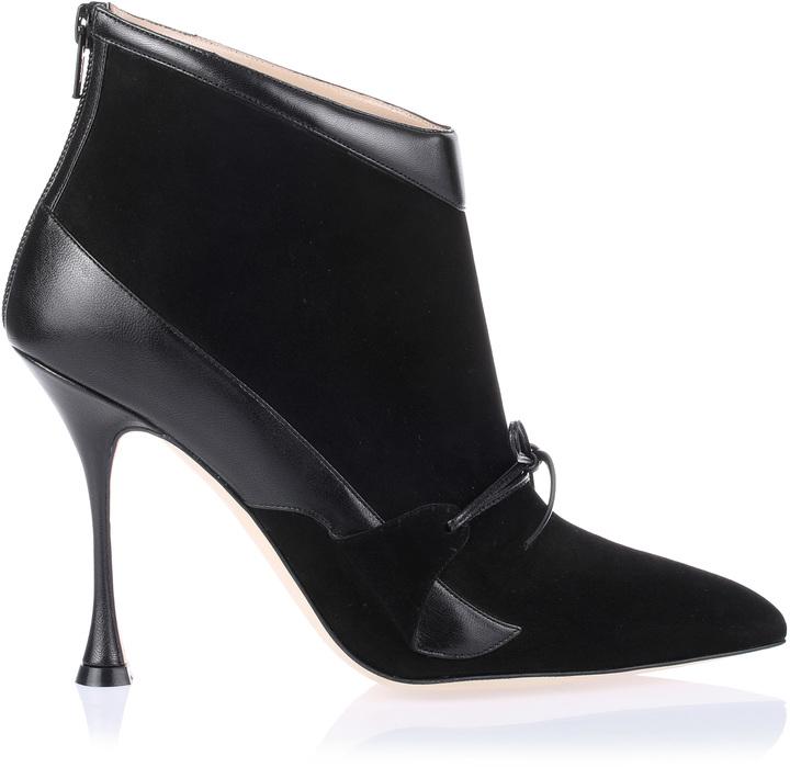Manolo Blahnik Toniak suede leather bootie