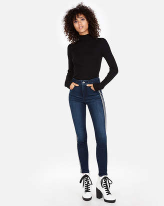 Express Wide Rib Fitted Turtleneck Sweater