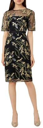 Hobbs London Phoebe Embroidered Illusion Dress