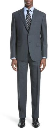 Men's Canali Classic Fit Check Wool Suit $1,895 thestylecure.com