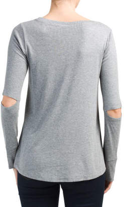 Elbow Cut Out Swing Top