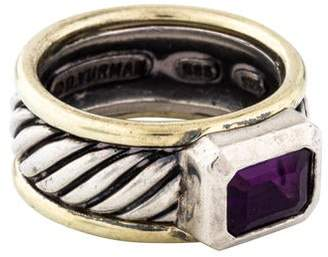 David Yurman Amethyst Cable Ring