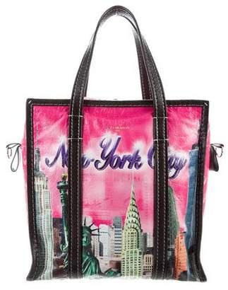 Balenciaga Bazar Arena Leather Small Shopper Tote Bag