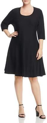 Nic+Zoe Plus Twirl Ribbed Sweater Dress