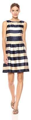 Tommy Hilfiger Women's Nightfall Stripe Jaqauard Dress