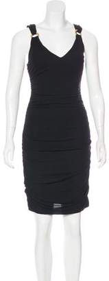 Versace Sleeveless Ruched Dress