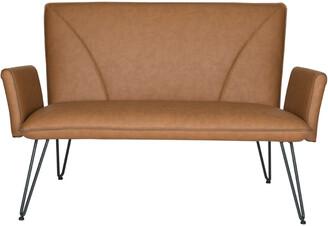 Safavieh Johannes Mid Century Modern Leather Settee