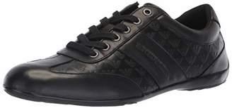 Emporio Armani Men's Logo Penny Loafer Sneaker, Black, 6M Regular UK (7M US)