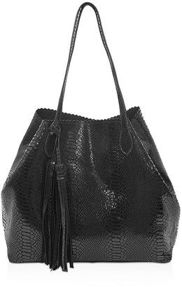 Buco Grand Iguana-Embossed Tote $325 thestylecure.com