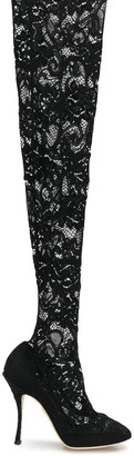 Dolce & Gabbana lace over-knee boots