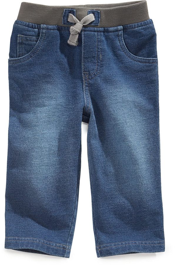 First Impressions Baby Boys' Knit Denim Pants