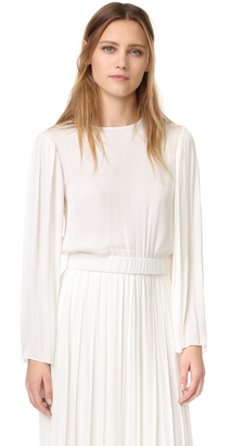 Elizabeth and James Ava Pleated Sleeve Blouse $265 thestylecure.com