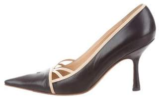 Chanel Leather Pointed-Toe Pumps