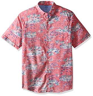 Izod Men's Dockside Chambray Print (Big Tall Slim)