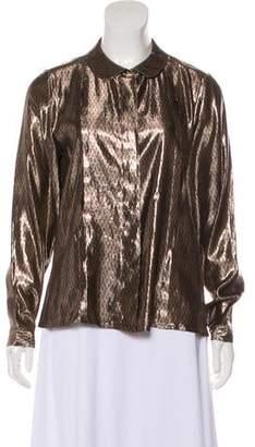 Chloé Metallic Long Sleeve Top