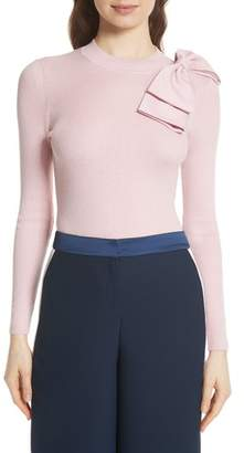 Ted Baker Bow Detail Ribbed Sweater