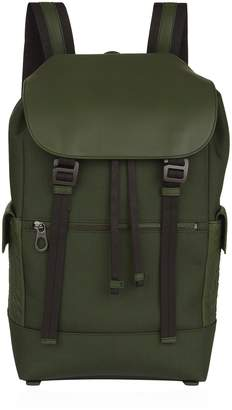 Bottega Veneta Canvas-Leather Intrecciato Backpack