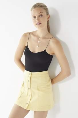 BDG Pocket Button-Front Skirt