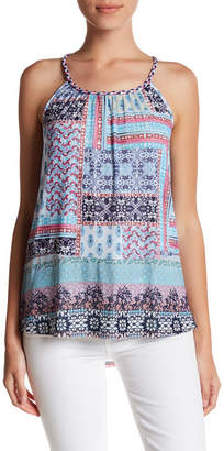 Cable & Gauge Braided Strap Printed Mesh Tank (Petite) $50 thestylecure.com