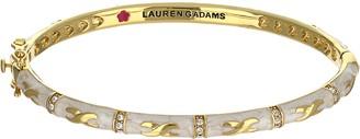 "Ralph Lauren G. Adams G Adams Goldtone Colored Enamel Bangle with ""X"" Design"