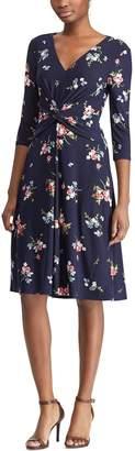 Chaps Women's Floral Twist-Front Dress
