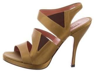 Alaia Satin Platform Sandals