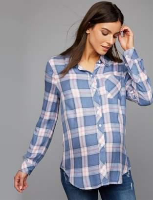 Rails Hunter Button Front Maternity Shirt